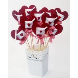 Декорация за Свети Валентин с любовно послание