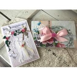 """Сватбена картичка и плик за пари """"Color World"""""""