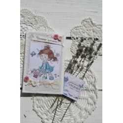 Ръчно изработена картичка за кръщене 2