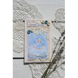 Ръчно изработена картичка за кръщене 3