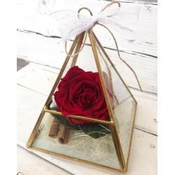 Вечна роза в диамантен съд