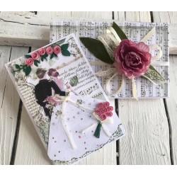 Младоженци в розово