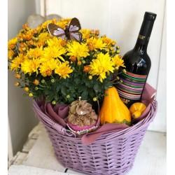 Есенен Подарък с хризантеми