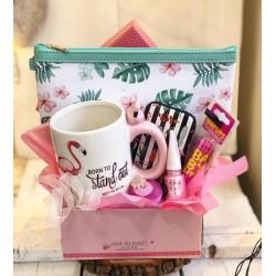 Подаръчен комплект Тропическо Фламинго