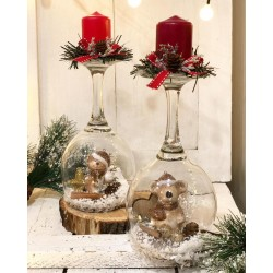 Коледен свещник котка или мишка