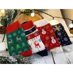 Коледни вълнени чорапи