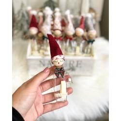Коледни късмети в стъклено шишенце джудже (различни видове)