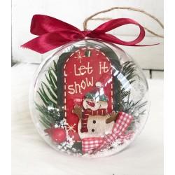 "Ръчно изработени коледни топки за елха ""Let it snow"""